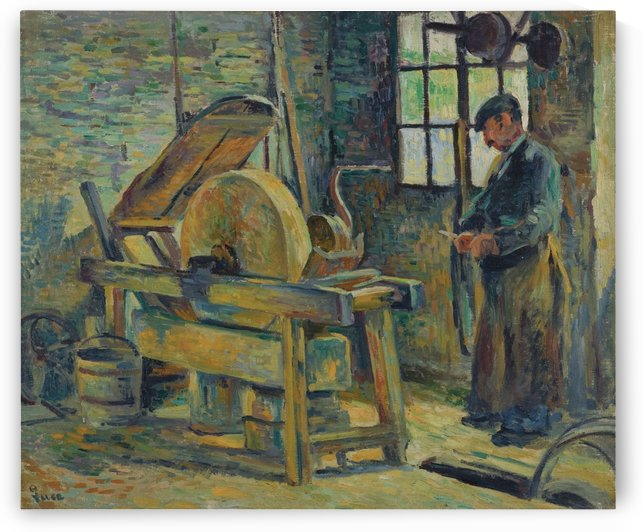 The Grinder by Maximilien Luce