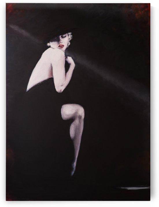 Marilyn black sitting 2 by Jocelyne maucotel