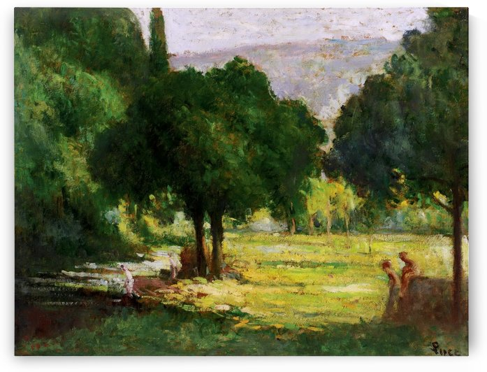 Bathers at the Bank of the Cure by Maximilien Luce