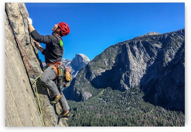 Climber on El Capitan by Garet Bleir