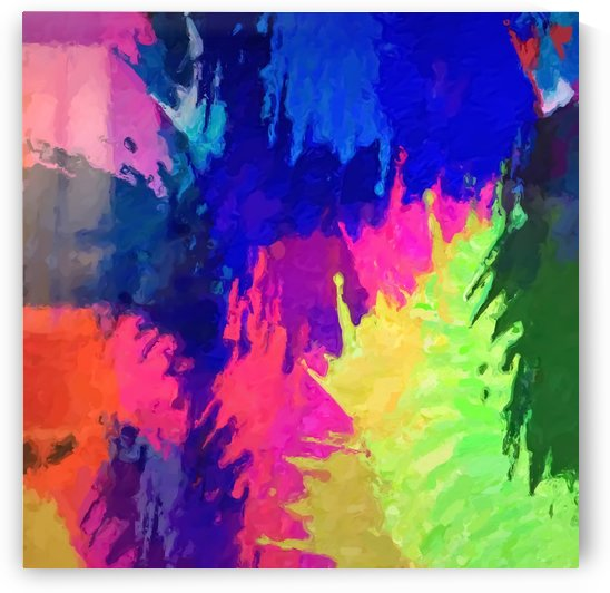 painting texture abstract background in blue pink yellow green by TimmyLA