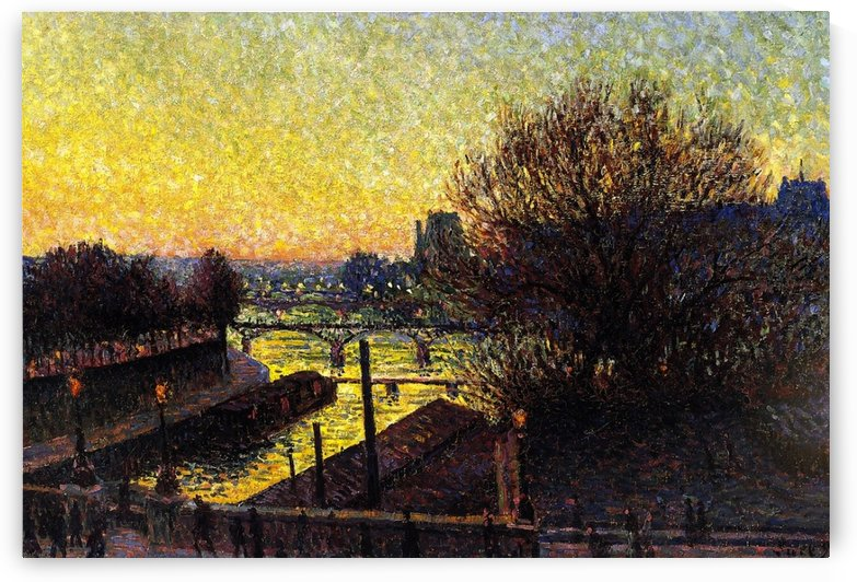 Peniche near the Bank of the Seine by Maximilien Luce