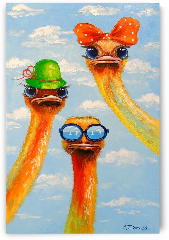 Ostriches friends by Olha Darchuk