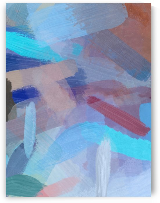 brush painting texture abstract background in blue brown by TimmyLA