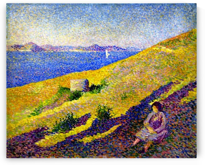 Rolleboise, the Bank of the Seine by Maximilien Luce