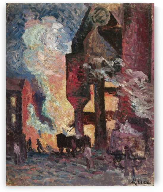 High Furnaces by Maximilien Luce