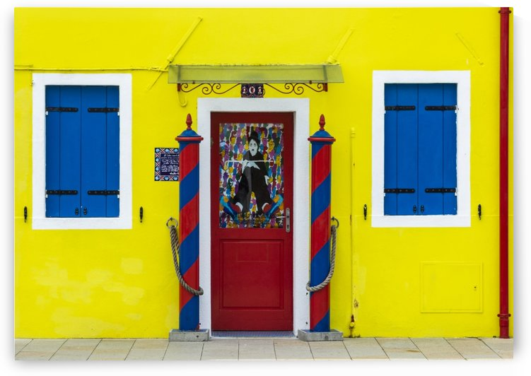 Colored shop in Burano by Pietro Ebner