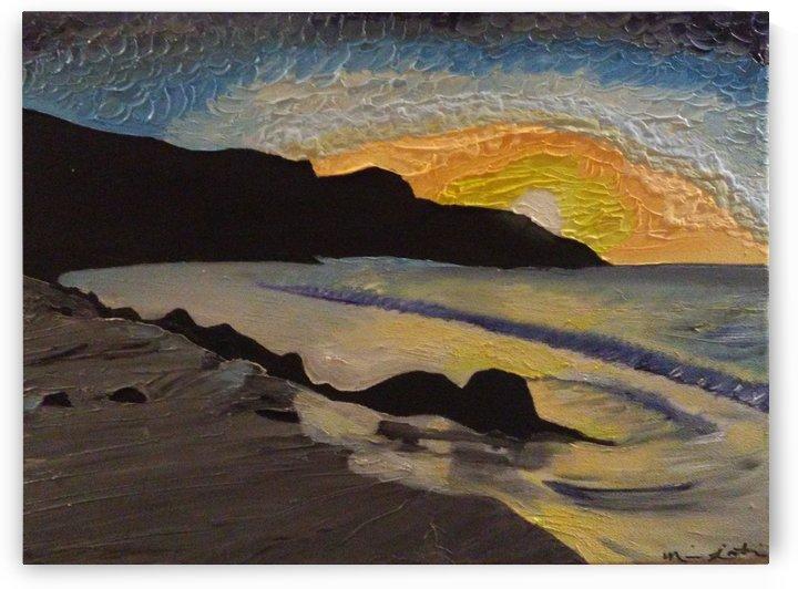 Brilliant Sunset by Ninabana Art Studio