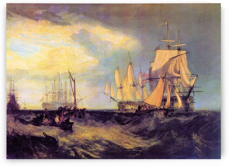 Recovering an anchor by Joseph Mallord Turner by Joseph Mallord Turner