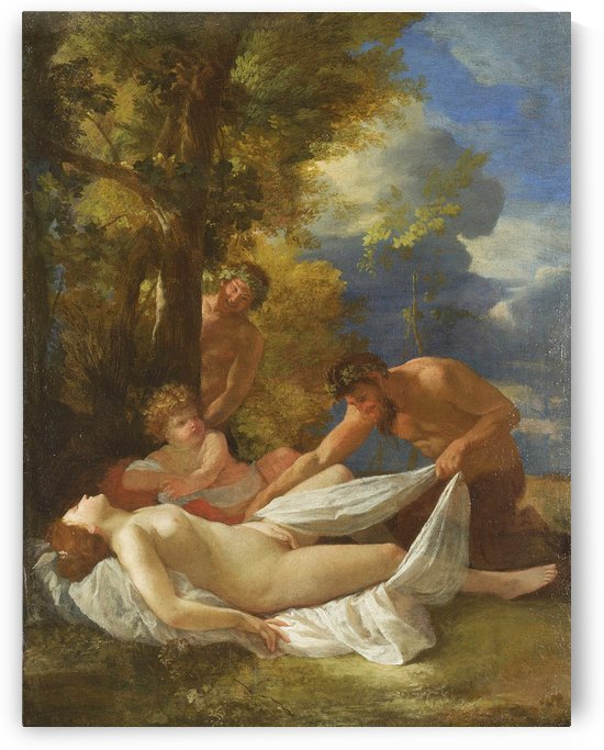 Nymph with Satyrs by Nicolas Poussin
