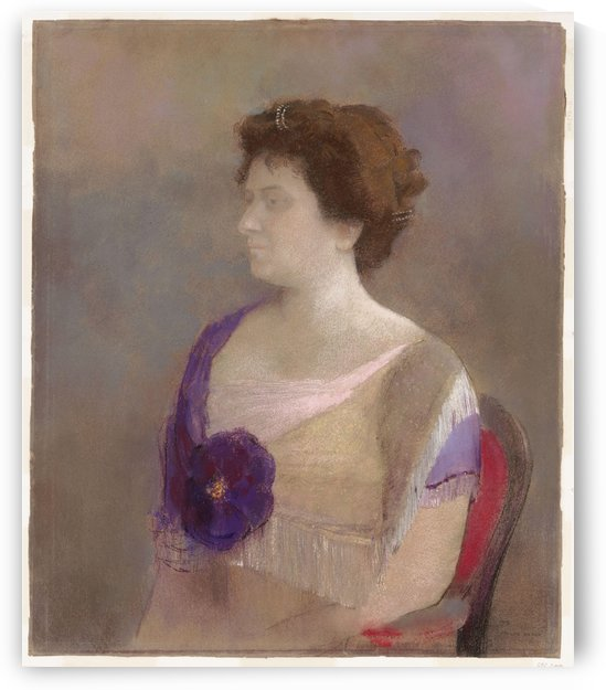 Woman with Flower Corsage by Odilon Redon