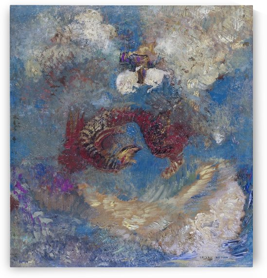 The Battle by Odilon Redon