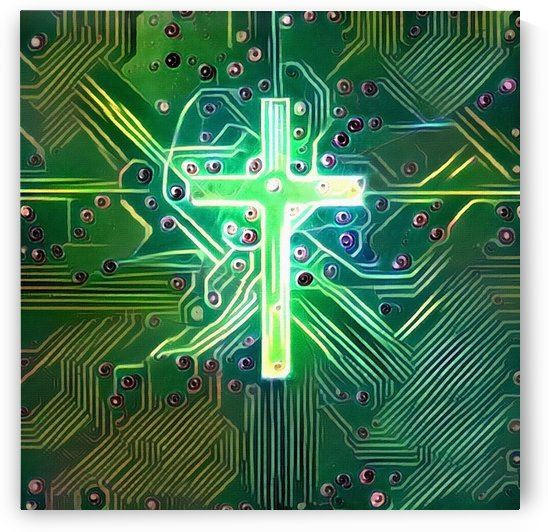 Digital Cross by Bruce Rolff