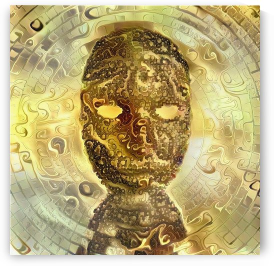 Golden Mask by Bruce Rolff