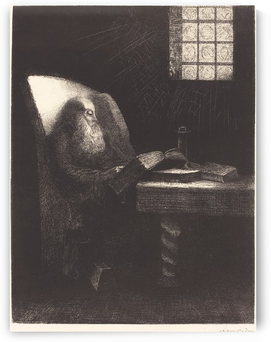 Seated Man by Odilon Redon