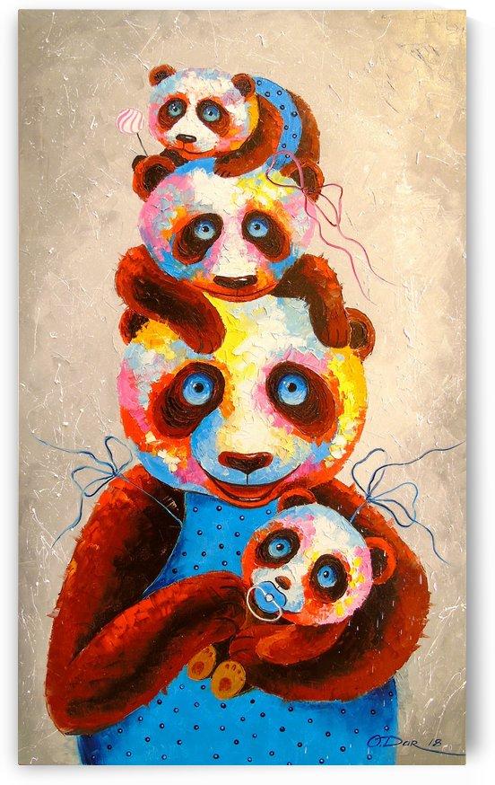 The Panda family by Olha Darchuk