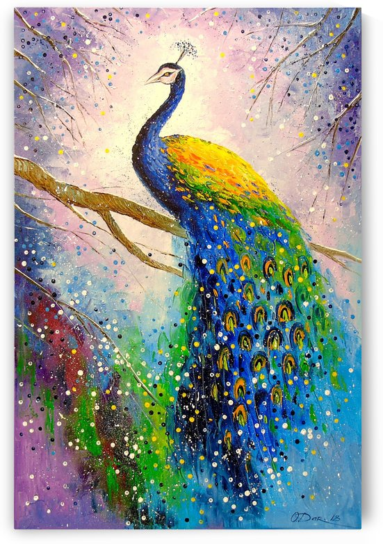 The magnificent peacock by Olha Darchuk
