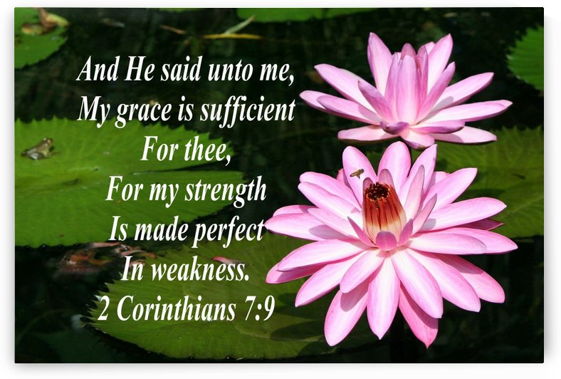 My grace sufficient for thee by Edifying Designs