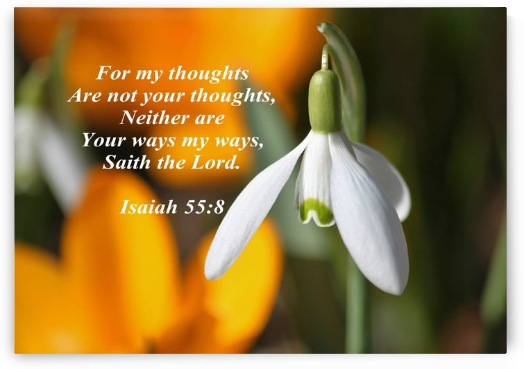 For my thoughts are not your thoughts by Edifying Designs