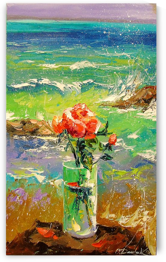 A bouquet of roses on the shore by Olha Darchuk