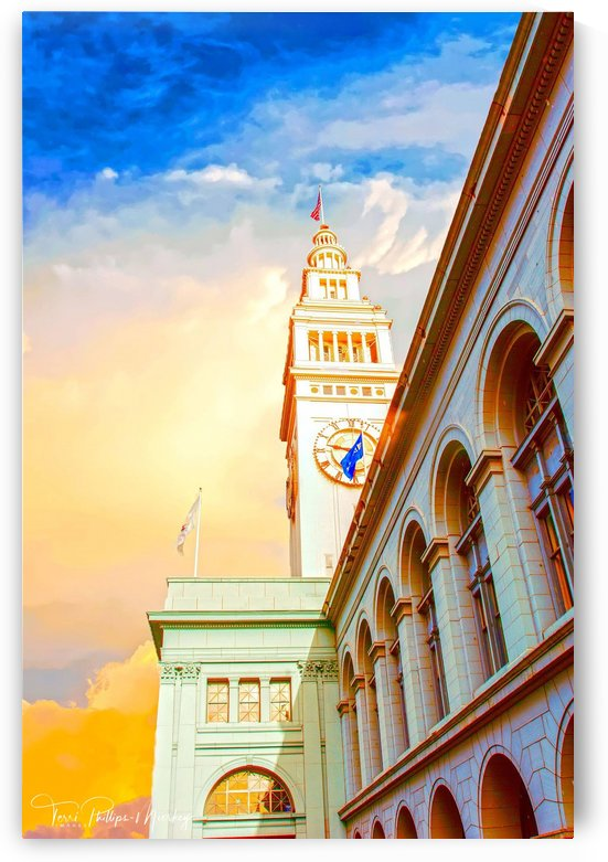 San Francisco Ferry Building Clock Tower By Terri Phillips Mierkey by Terri Mierkey