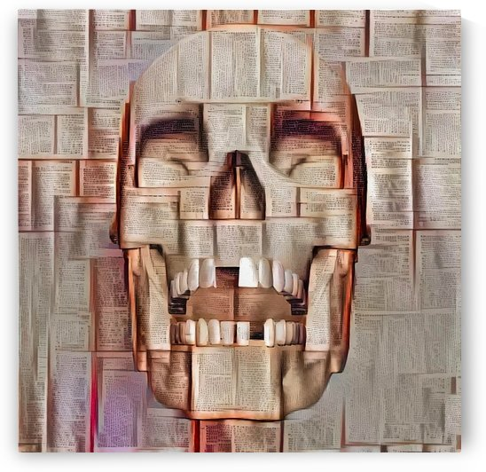 Paper Skull by Bruce Rolff