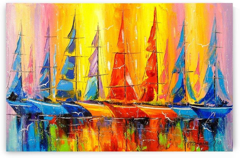 Rainbow boats by Olha Darchuk