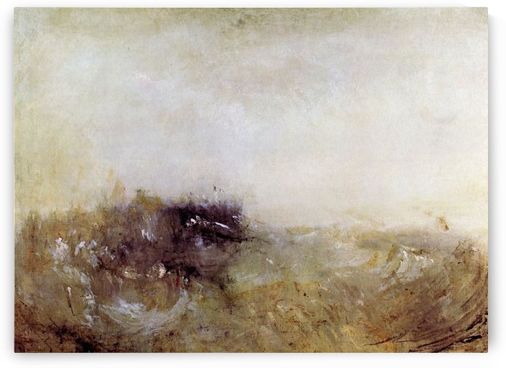 Rough Seas by Joseph Mallord Turner by Joseph Mallord Turner