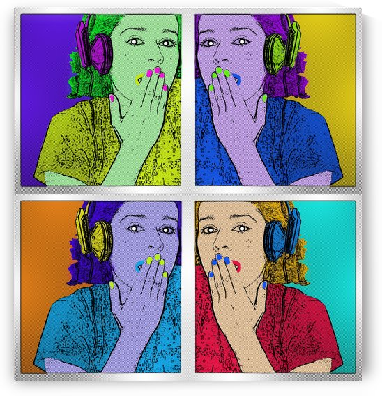 Digital Art. Ana Pop Art Effect Andy Warhol Style. v.1 by Javier Rodriguez