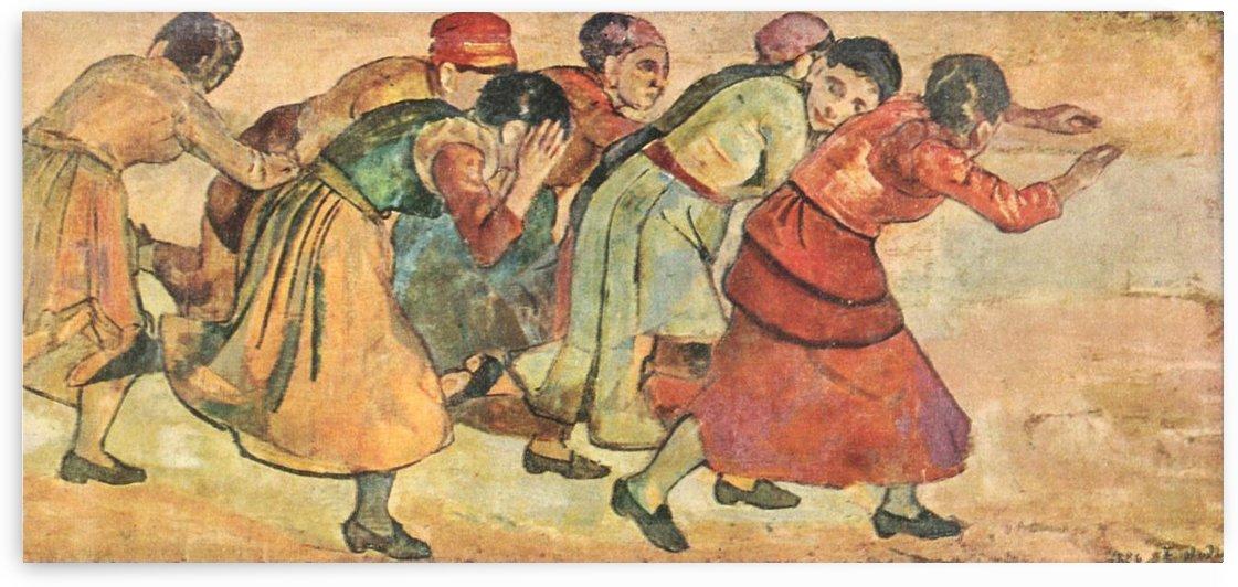 Running Women by Ferdinand Hodler by Ferdinand Hodler