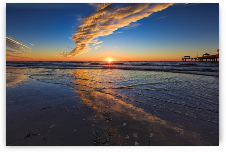 Clearwater Beach Sunset by Alex Galiano