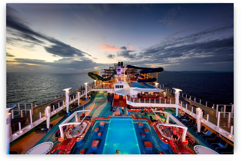 Cruise Deck at Sunset by Alex Galiano