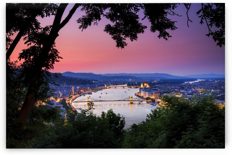 Danube River at Sunset by Alex Galiano
