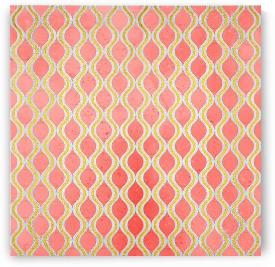 Gold - Living Coral Pattern I by Art Design Works