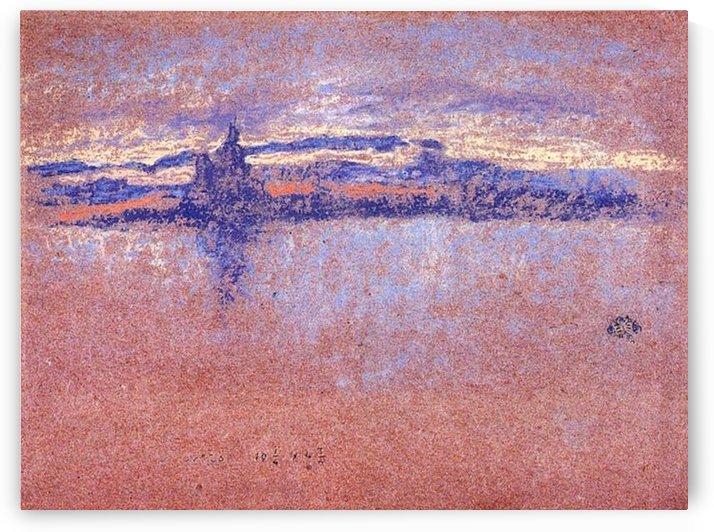 Salute, Sundown, framed by Whistler by Whistler