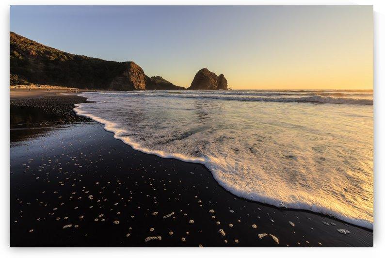 Black Sand Beach at Sunset by Alex Galiano
