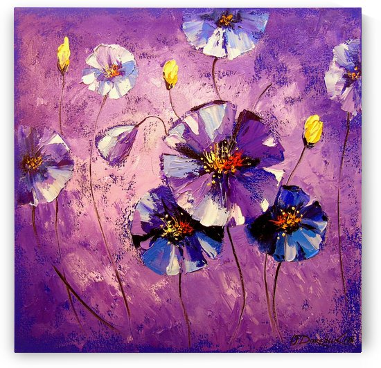 Purple flowers by Olha Darchuk