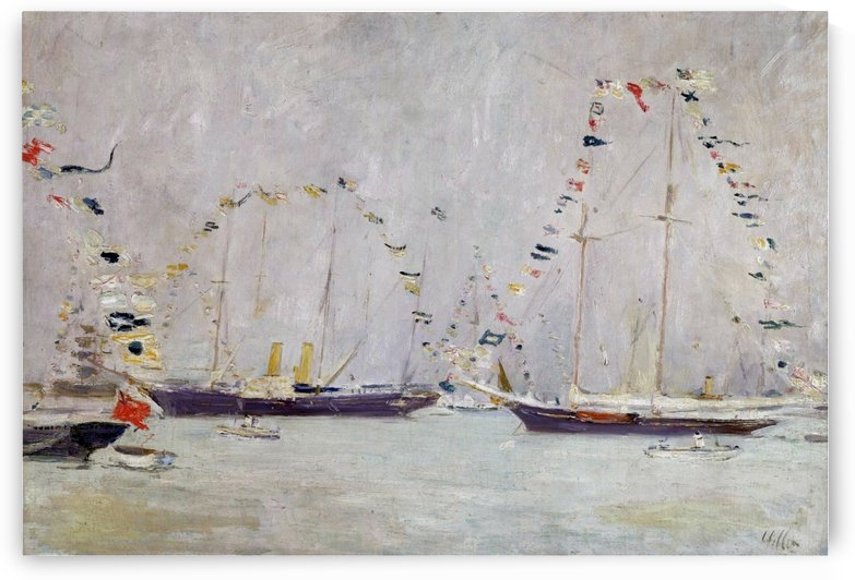 Yachts with Ensigns by Paul Cesar Helleu