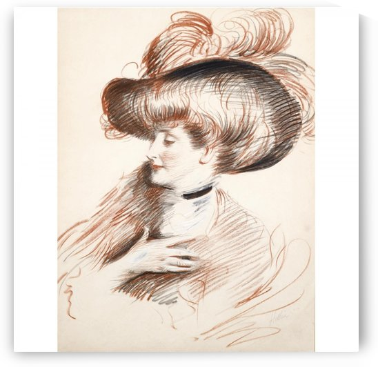Portrait of Madame De Guerin by Paul Cesar Helleu