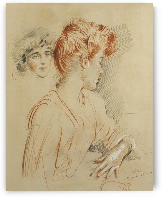 Two Women by Paul Cesar Helleu