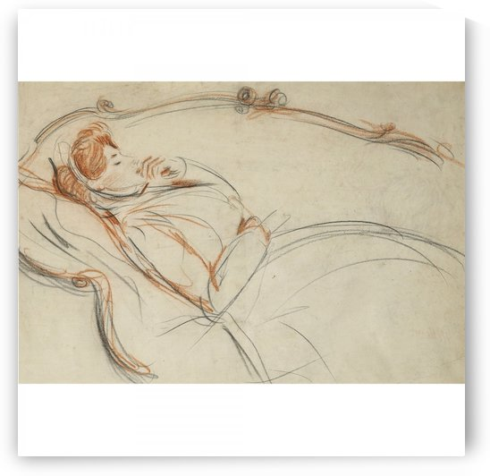 Sleeping Woman by Paul Cesar Helleu