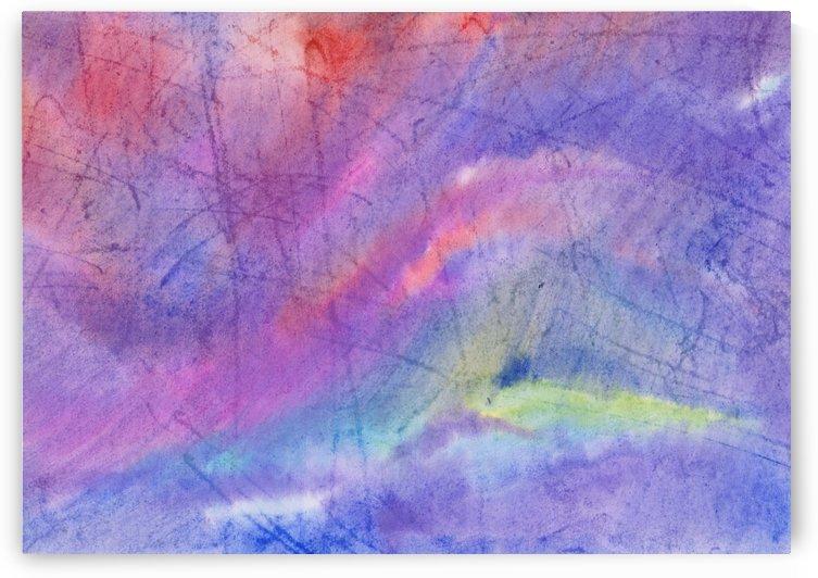 Abstract Mauve wave by Dobrotsvet Art