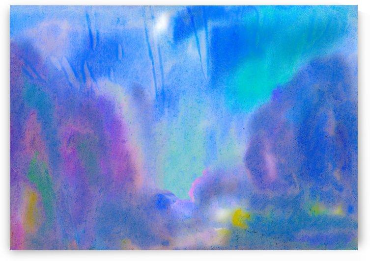 Abstract azure landscape by Dobrotsvet Art
