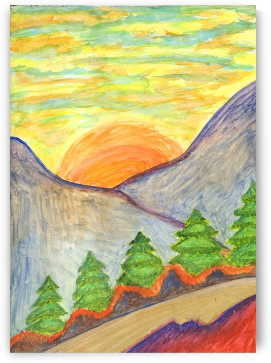 Winter solstice. Road to the mountains by Dobrotsvet Art