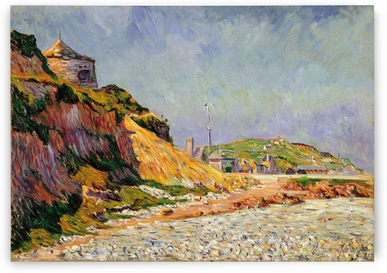 Port-en-Bessin, the Beach by Paul Signac