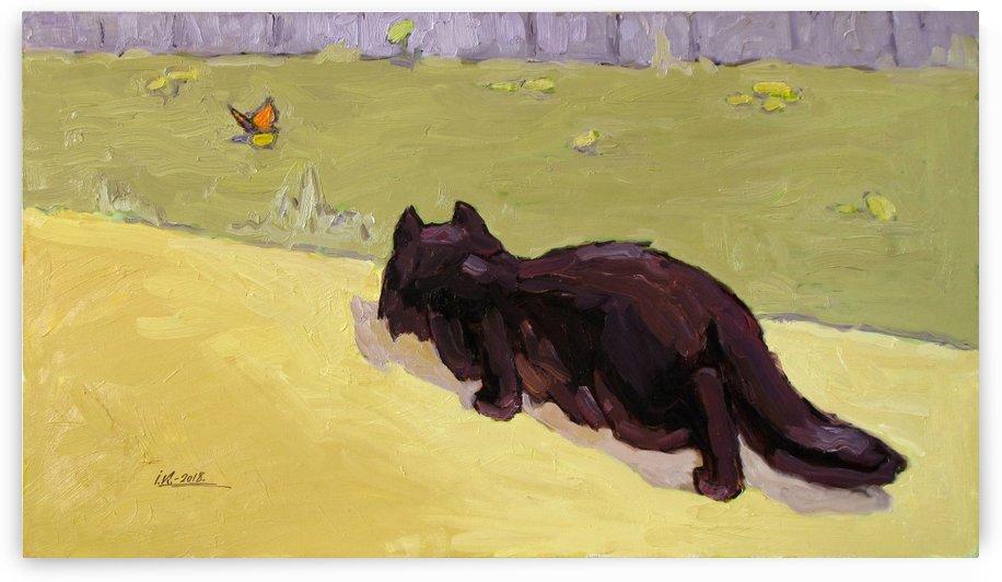 Cat and Butterfly by Ivan Kolisnyk