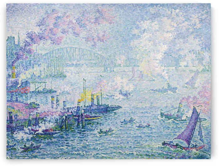 The Port of Carrousel by Paul Signac