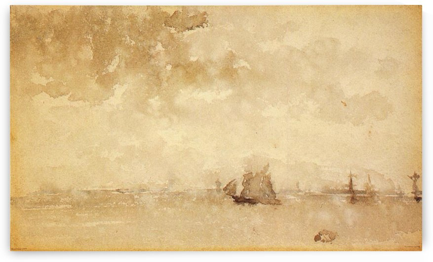 Seascape, a grey note by Whistler by Whistler