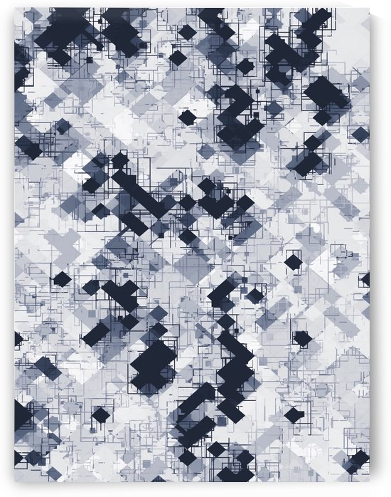 geometric pixel pattern abstract in black and white by TimmyLA