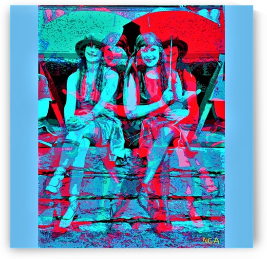 The Umbrella Girls by neil gairn adams  by Neil Gairn Adams
